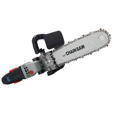 电锯家用伐木锯电链锯小型多功能角磨机改装链条锯手提角向磨光机