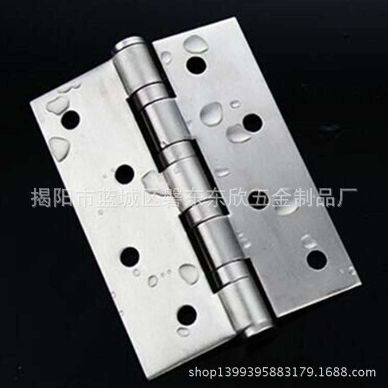 厂家批发4寸2.5A 不锈钢 平开合页 钢木门 五金 铰链 家具装饰