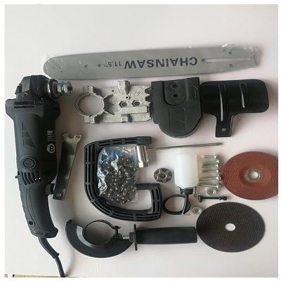 厂家直销角磨机电链锯磨光机批发改电锯家用小型多功能手提伐木锯