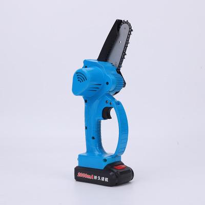 4寸迷你锂电电锯 小型伐木锯家用电链锯木工电锯无线便携厂家直销