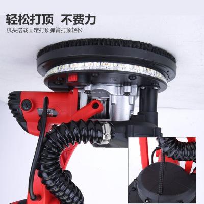 电动无尘墙面打磨机自吸尘多功能带LED灯长杆磨墙机沙皮砂纸机