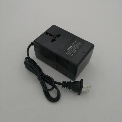 交流电源变压转换器美规110V转变220V带指示灯万能插座200W