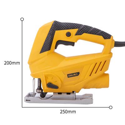 得力曲线锯家用电锯多功能手持木板线锯小型切割机木工电动工具