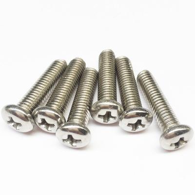 促销201不锈钢十字圆头螺丝M3M4M5M6M8盘头螺钉机丝圆头机螺钉