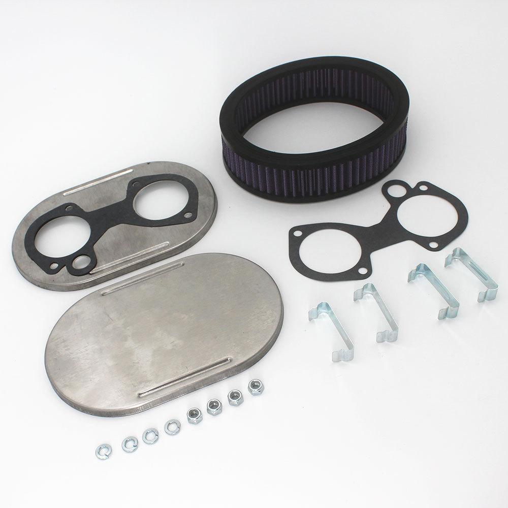 空气过滤器韦伯DCOE 40DCOE 45DCOE 48DCOE不锈钢-1 3/4英寸高