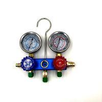 汽车空调加氟不锈钢双油表 R134加氟工具 冷媒表 家用空调表
