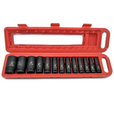 批发二分之一气动加长13件套PC防爆套筒组套 4s维修店家用工具