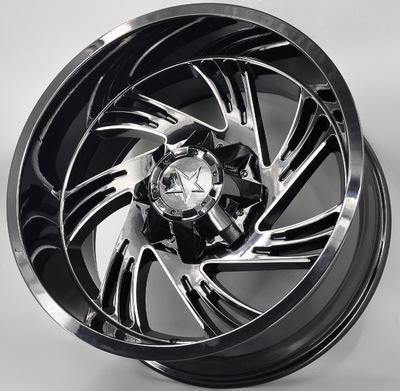 工厂直销大抛边轮毂20寸越野品牌铝合金轮圈