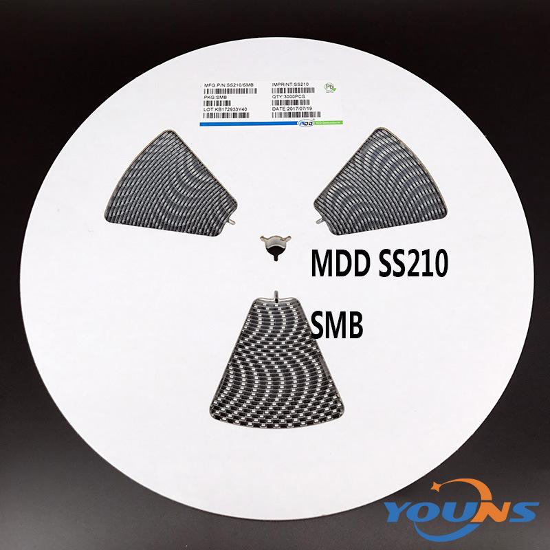 MDD品牌 贴片肖特基二极管 SS210 SMB 2A 100V