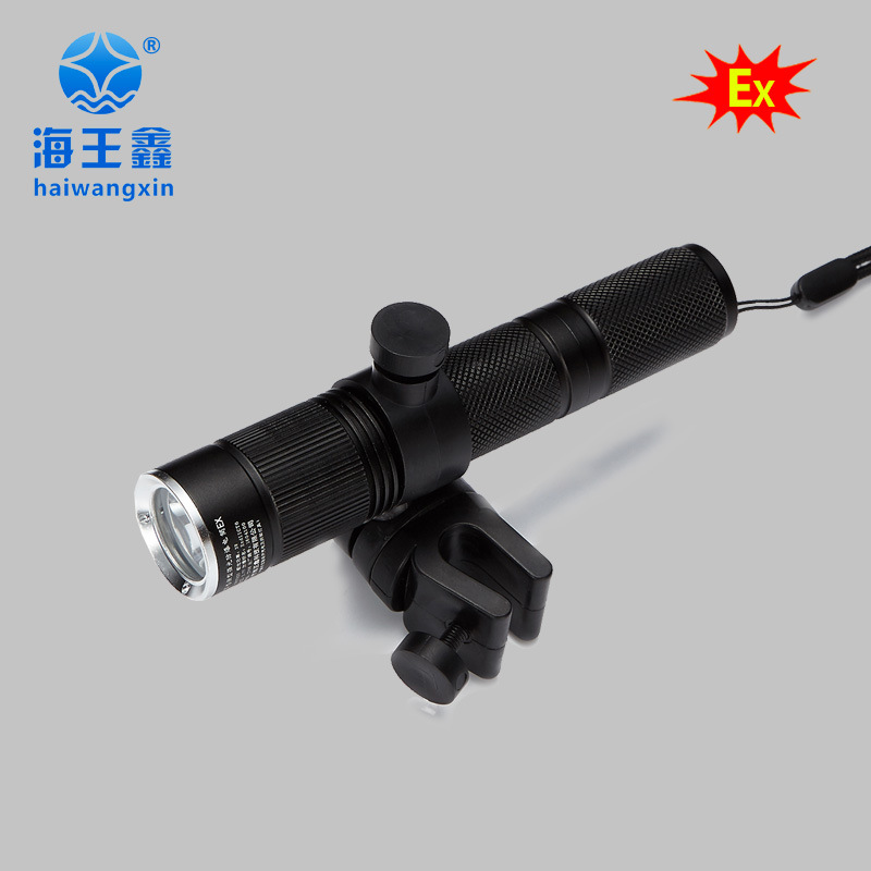 三年质保JW7620固态微型强光防爆电筒佩戴式防爆照明灯