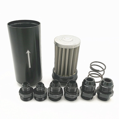 汽油滤清器燃油滤清器汽车改装50MM机油燃油滤清器AN6 AN8 AN10