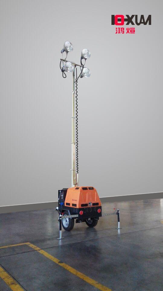 轻型升降泛光灯,便携式移动照明车,移动照明灯塔