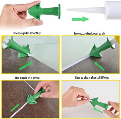 吸塑硅胶喷嘴涂抹3合1金属刮刀刮板密封填缝窗户瓷砖厨房浴室15件