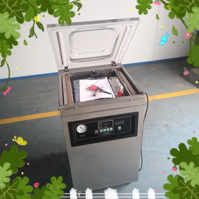 400/2L单式食品封袋机 不锈钢盐干笋全自动封口机 腌蒜抽真空机