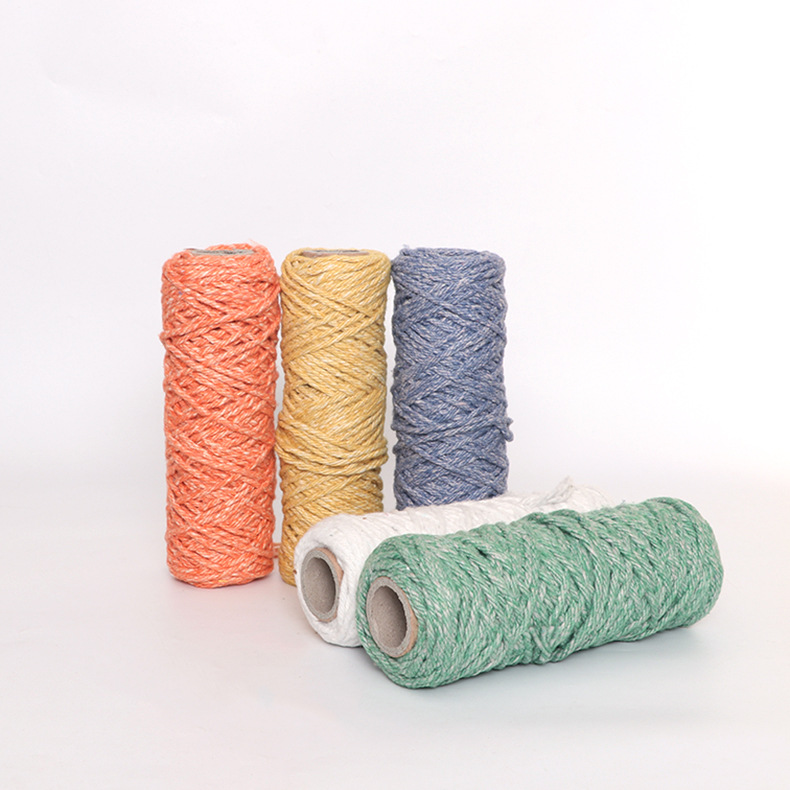 厂家直供批发多色摩擦纺纱 合股拖把纱 0.8S涤纶棉摩擦纺纱线批发