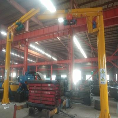 立柱悬臂吊,360度旋转单臂吊5t 小型吊机1T2T3T链条葫芦