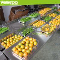带托菌菇木耳枕式装袋机 盒装蔬菜入袋机 自动贴标水果伺服包装机