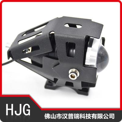 跨境摩托改装led聚光车灯外置踏板电动车前大灯U5激光炮射灯