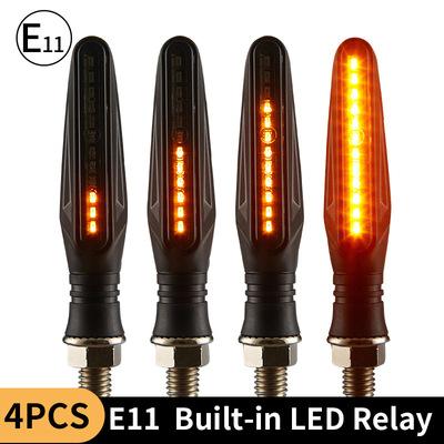 高端摩托车流水转向灯 LED信号灯带E-MARK 单排335侧发光 黑骑109