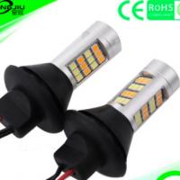 LED双色转向灯带日行灯1156 T20 PY21W 42SMD带解码防频闪转弯灯
