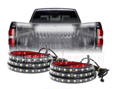 皮卡车厢照明灯带5050尾箱灯货柜拖车边灯带开关控制一拖二灯条