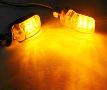 跨境专供 摩托车LED转向灯 迷你LED摩托车转向灯 黄色 工厂直销