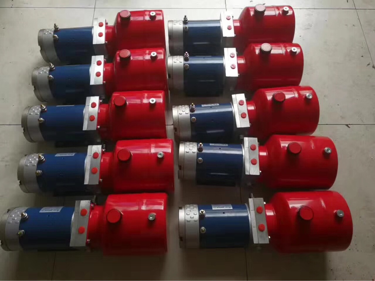 环卫车液压动力单元液压泵站72V电动叉车