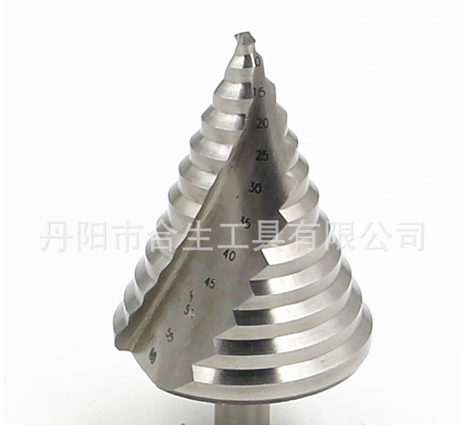 6-60mm大尺寸开孔器高速钢螺旋槽阶梯钻白钻塔钻三角钻多功能钻头