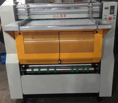 厂家直销 优德88中文客户端HR-1000 滚筒式纸板密度板灰板纸礼盒 V起钩 开槽机