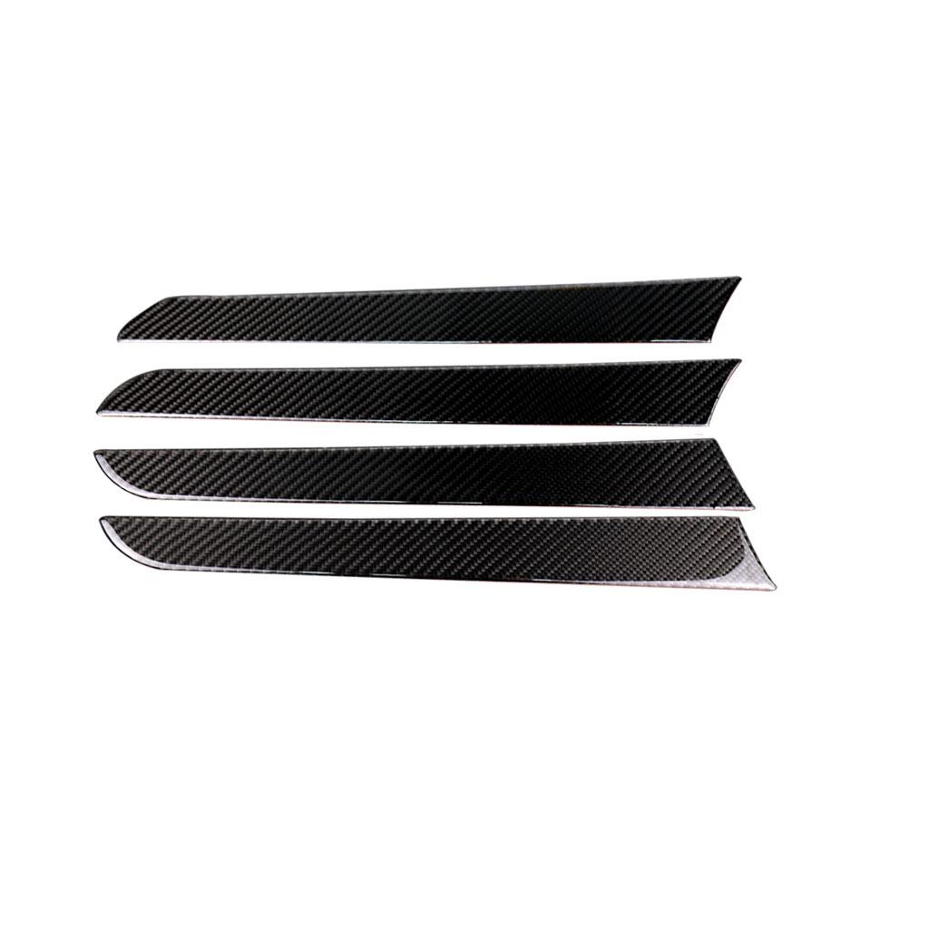适用奥迪audiA4B8碳纤维门板装饰贴门拉手条盖板四件套2009-2016