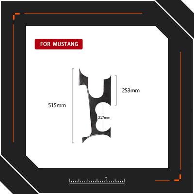 适用福特野马碳纤维控制换档位面板装饰罩汽车内饰改装配件造型贴